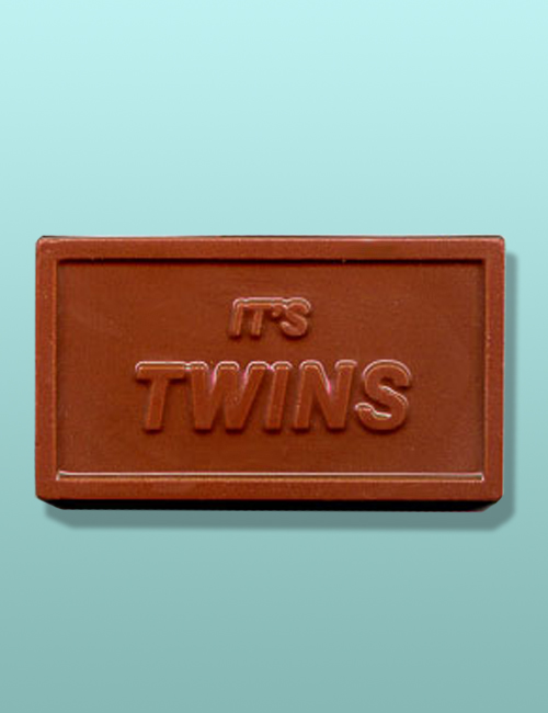 "Chocolate ""It's Twins"" Party Favor"