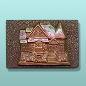Chocolate Victorian House Plaque