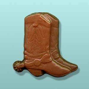 Chocolate Cowboy Boots & Spurs Favor
