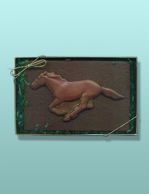 Chocolate Wild Stallion Horse Plaque
