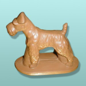 3D Chocolate Wire Fox Terrier Large Dog