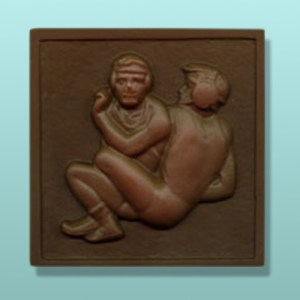 Chocolate Wrestling Square Plaque