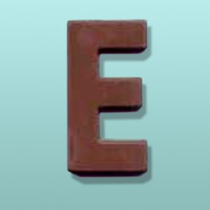 Chocolate Alphabet Letter #1 Party Favor