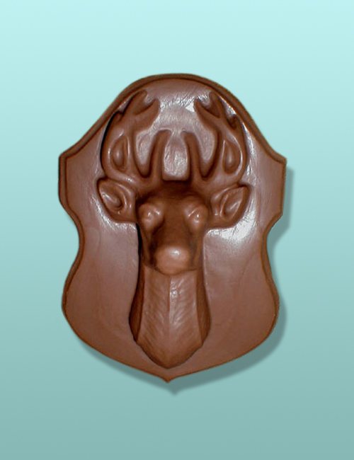 Chocolate Deer Head Chocolate Plaque