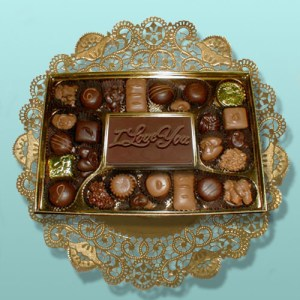 I Love You Card Chocolate Assortment