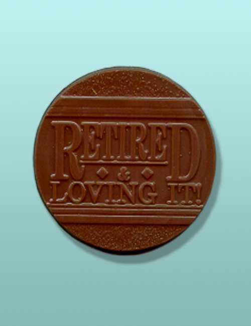 Chocolate Retired and Loving It Party Favor