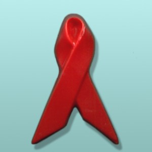 Chocolate Aids Awareness Ribbon