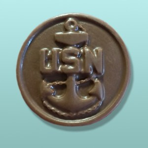 Chocolate Navy Medallion Favor II