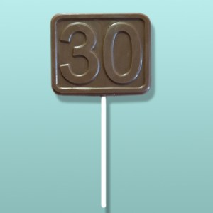 Chocolate Number 30 Square Favor