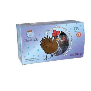Boîte de 12 poules de chocolat au lait