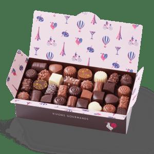 assortiment chocolat au lait_ballotin_chocolats_coffrets_nantes sud loire