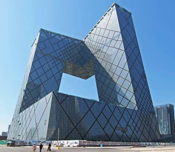 Siedziba CCTV Pekin [ architekt: Koolhaas R., Scheeren O. (2004)]