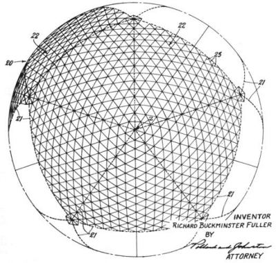 Kopuła geodezyjna. Patent Fullera,1954