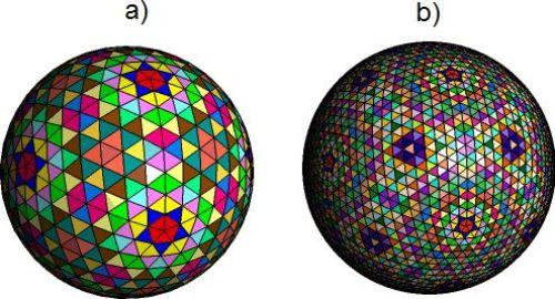 Podział geodezyjny w kolorach