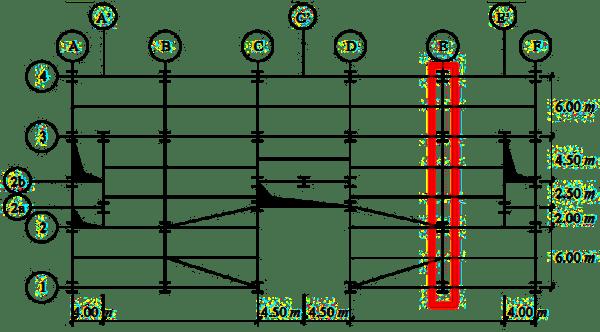 Rys. 2. Główny plan budowlany belek stropowych
