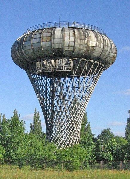 Wieża ciśnień ze zbiornikiem torusem