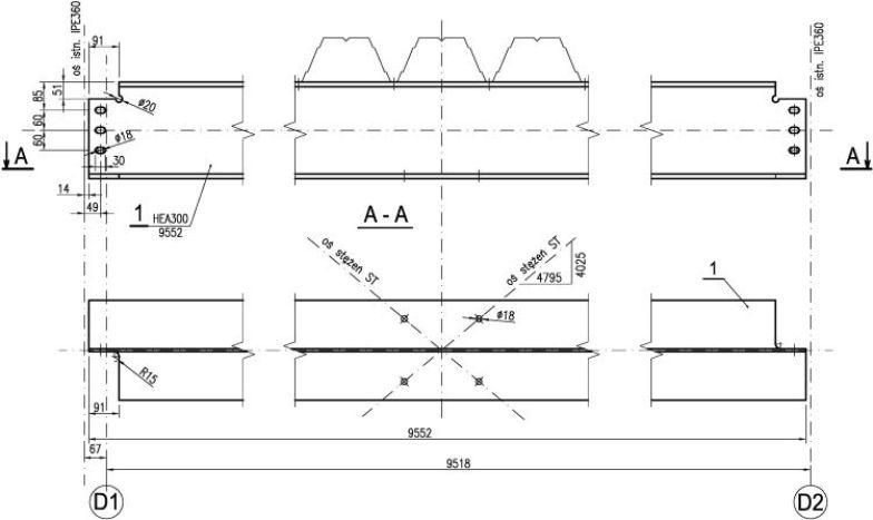 Standard rysunku warsztatowego. Rysunek roboczy belki stalowej