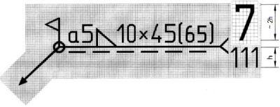 Przykład oznaczenia spoiny