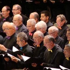 Choeur d'hommes, concert à la Halle aux Grains, 2015