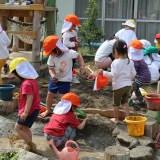 調布多摩川幼稚園の砂場のお話