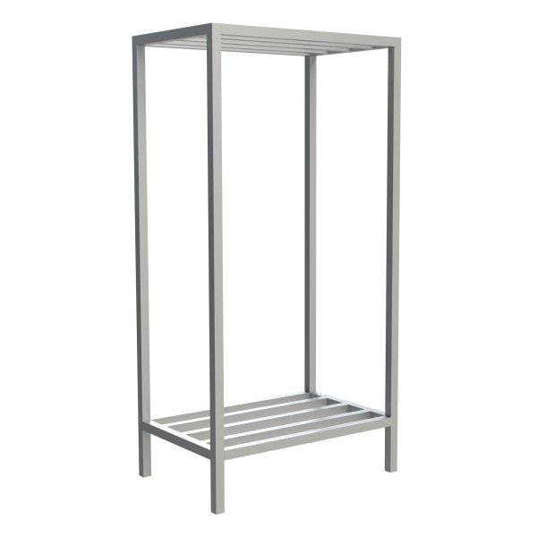 2-Shelf Tubular Fixed Shelving