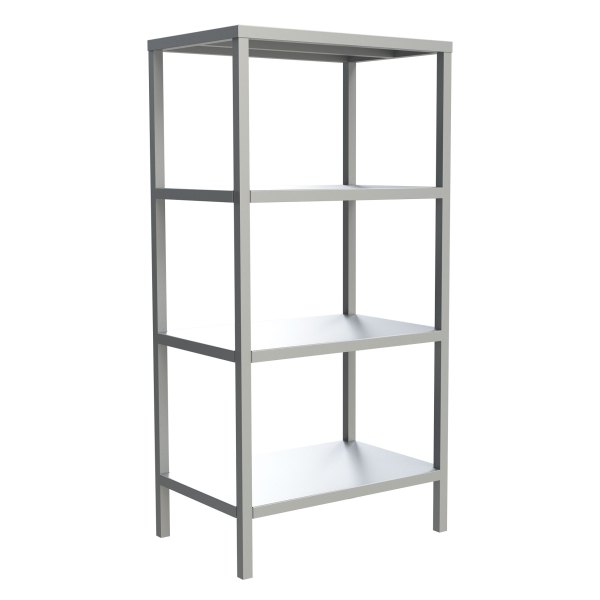 4-Shelf Solid Fixed Shelving