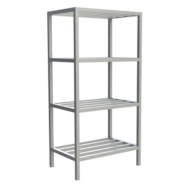 4-Shelf Tubular Fixed Shelving