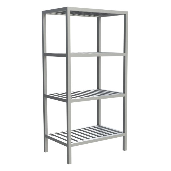 4-Shelf T-Bar Fixed Shelving
