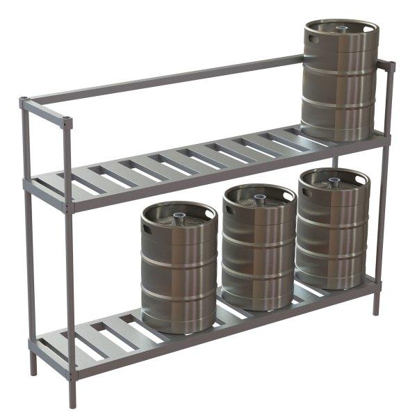 Half Size Adjustable Rack w/Open Top for Storage Under Evaporator Coils