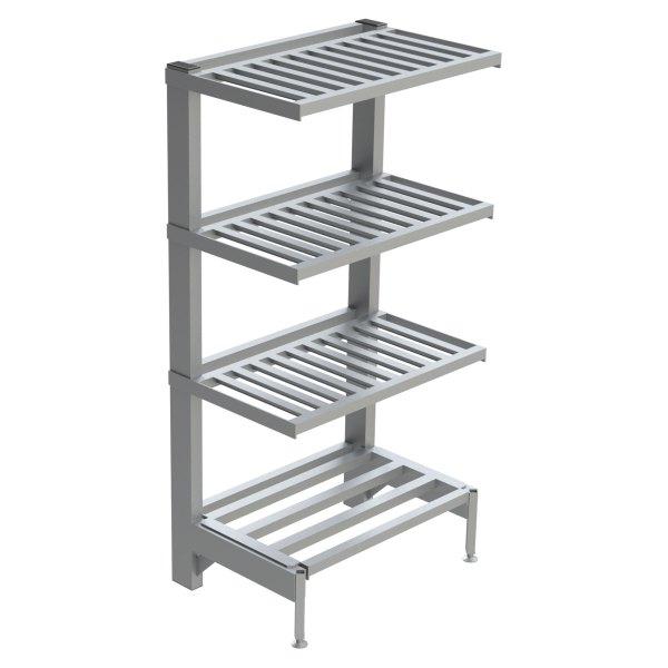 4-Shelf T-Bar Cantilever Shelving