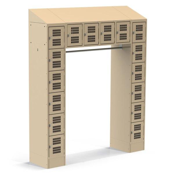 16 Door Tan Combo Locker Unit