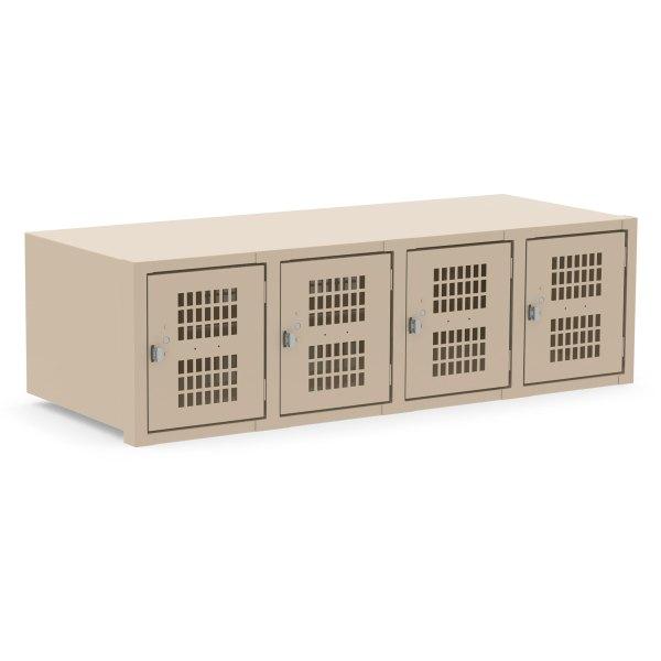 4 Door Tan Horizontal Locker Unit