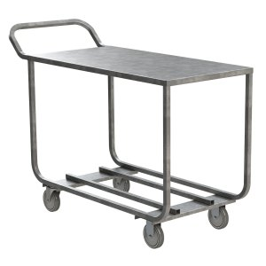 Galvanized Steel Produce Stocking Cart