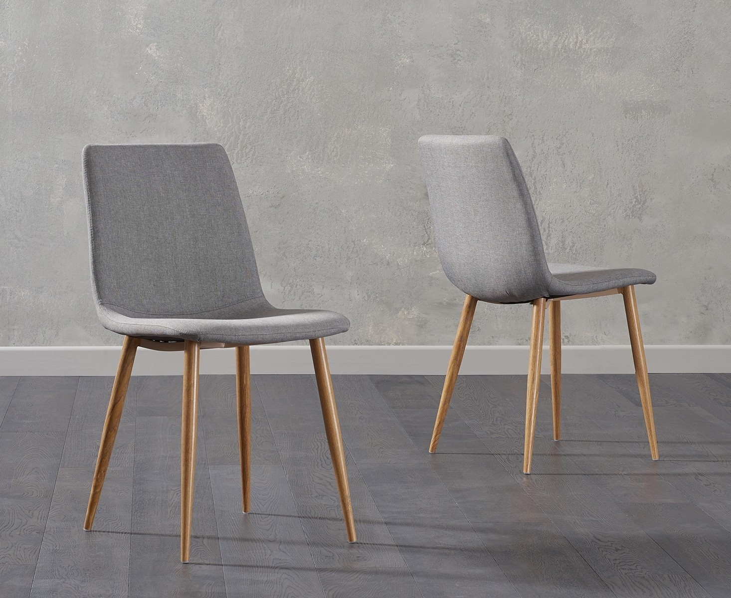Grey Wood Dining Chairs Buy Mark Harris Hatfield Grey Fabric Dining Chair With