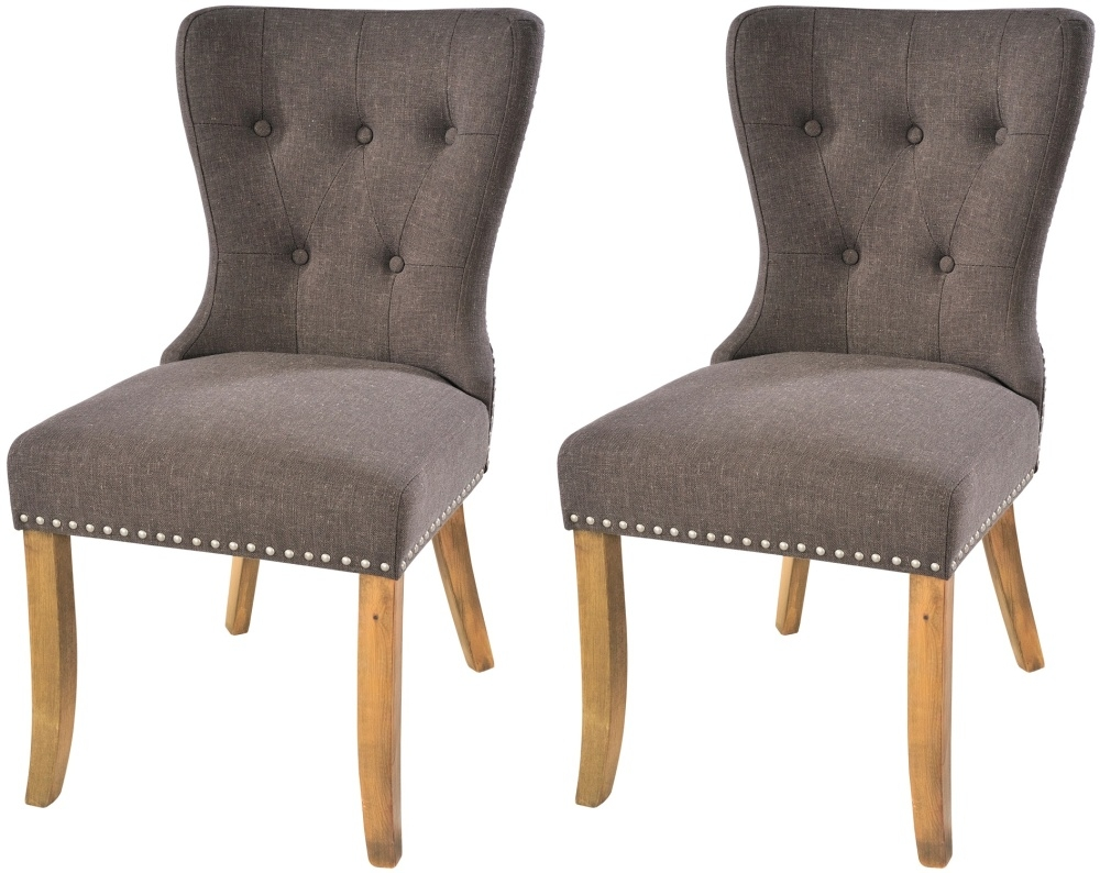 Dining Chair Dimensions Rowico Adele Fabric Dining Chair Pair Tiara Grey