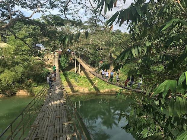 Bamboo Hanging Bridge Philippinen