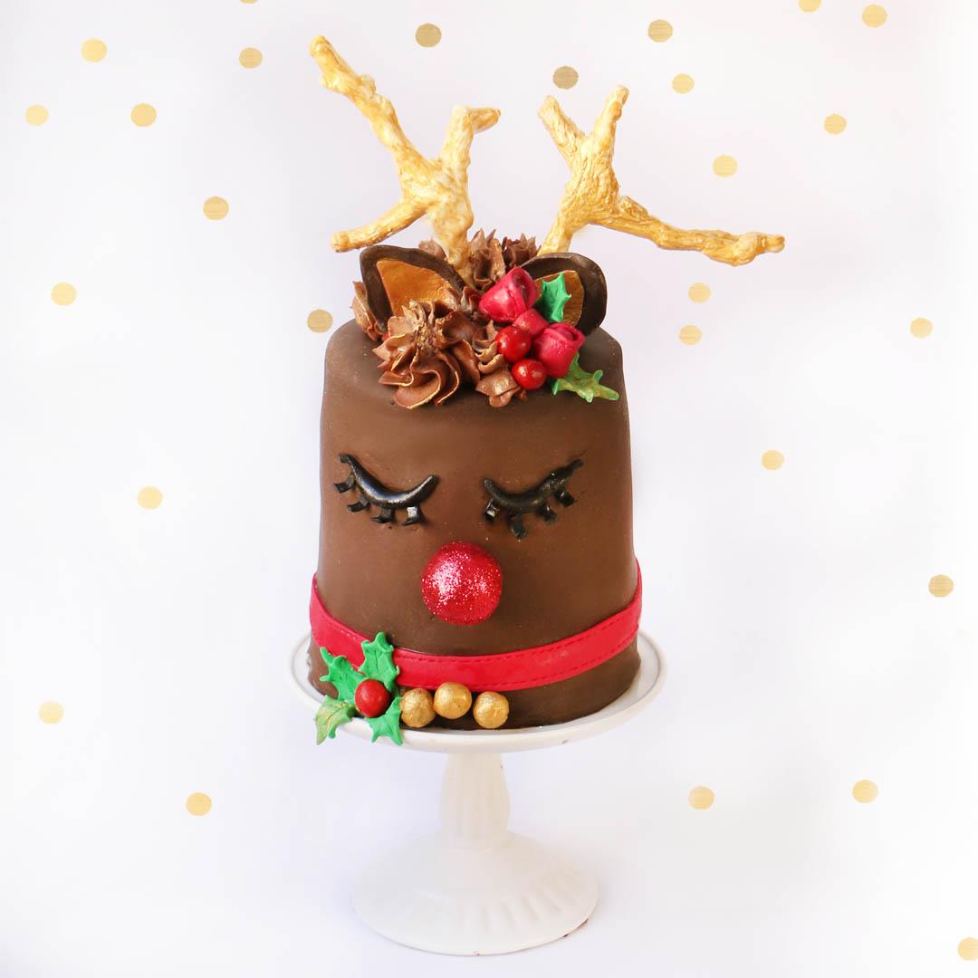 pastel reno navideño 2