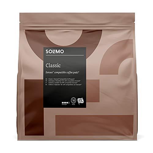 Marca Amazon- Solimo Cápsulas Classic , compatibles con Senseo*- café certificado UTZ, 90 cápsulas (5×18)    Precio: 5.94€        visita t.me/chollismo
