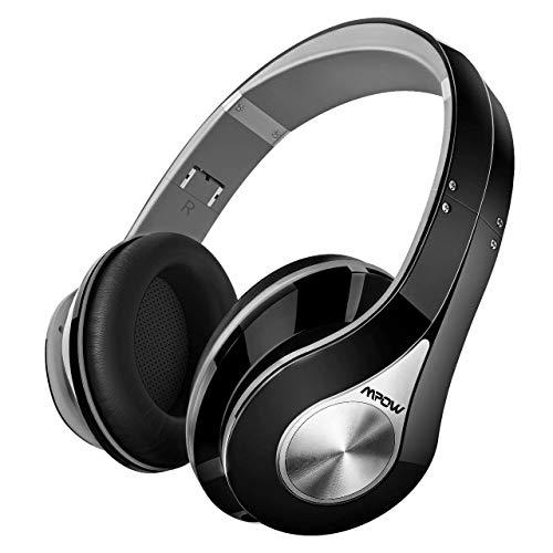 👕️ Mpow 059 Auriculares Diadema Bluetooth Inalambricos, Cascos Bluetooth Inalambricos Plegable con Micrófono, 20hrs Reproducción de Música, Hi-Fi Sonido Estéreo para TV, PC, Móviles, Gris