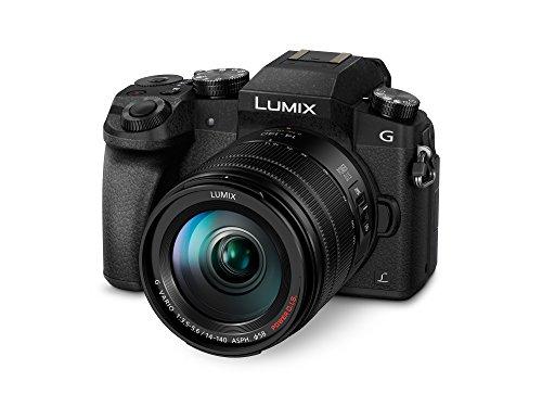 Panasonic Lumix G7H – Cámara EVIL de 16 MP, Pantalla 3″, Grabación de Vídeo en 4K, Wi-Fi, RAW, Cuerpo Ergonómico, Kit con Objetivo Lumix Vario 14 – 140 mm/F3.5-5.6    Precio: 899€        visita