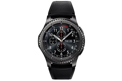 Samsung Gear S3 Frontier – Smartwatch Tizen (pantalla 1.3″ Super AMOLED 360×360, GPS integrado, batería 380 mAh, altavoz integrado), color Gris (Space Gray)- Version española    Precio: 189€