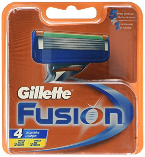 👕️ Gillette Fusion – Recambios de maquinilla de afeitar para hombre – 4 recambios -Packaging May Vary   💸 Precio: 12.95€    🛒    Prueba nuestro asistente de tallas: @avisotallas_bot. Te a