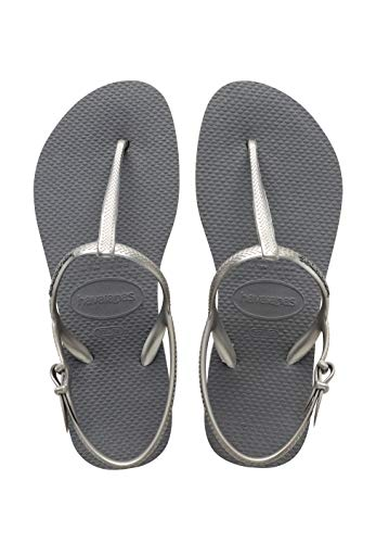 Havaianas Freedom, Sandalias para Mujer, Plateado (Steel Grey), 35/36 EU    Precio: 19.45€        visita t.me/chollismo