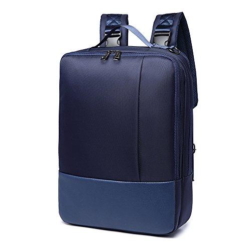 XIUJUAN Mochila para Portátil 15.6 Pulgadas, Impermeable Mochila para Hombre Mujer Negocio Trabajo Universitarias Viaje, 3 en 1 Bolsa Bandolera Maletin Backpack para Laptop / Ipad / Ordenador, Azul