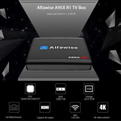 Oferta TV Box Android Alfawise A95X por 16 euros (Cupón descuento)