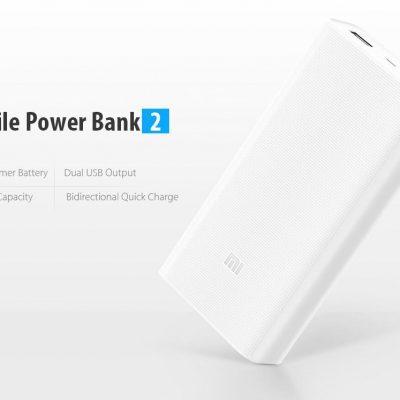 Oferta PowerBank 2 Xiaomi 20.000 mA por 24 euros (Cupón Descuento)