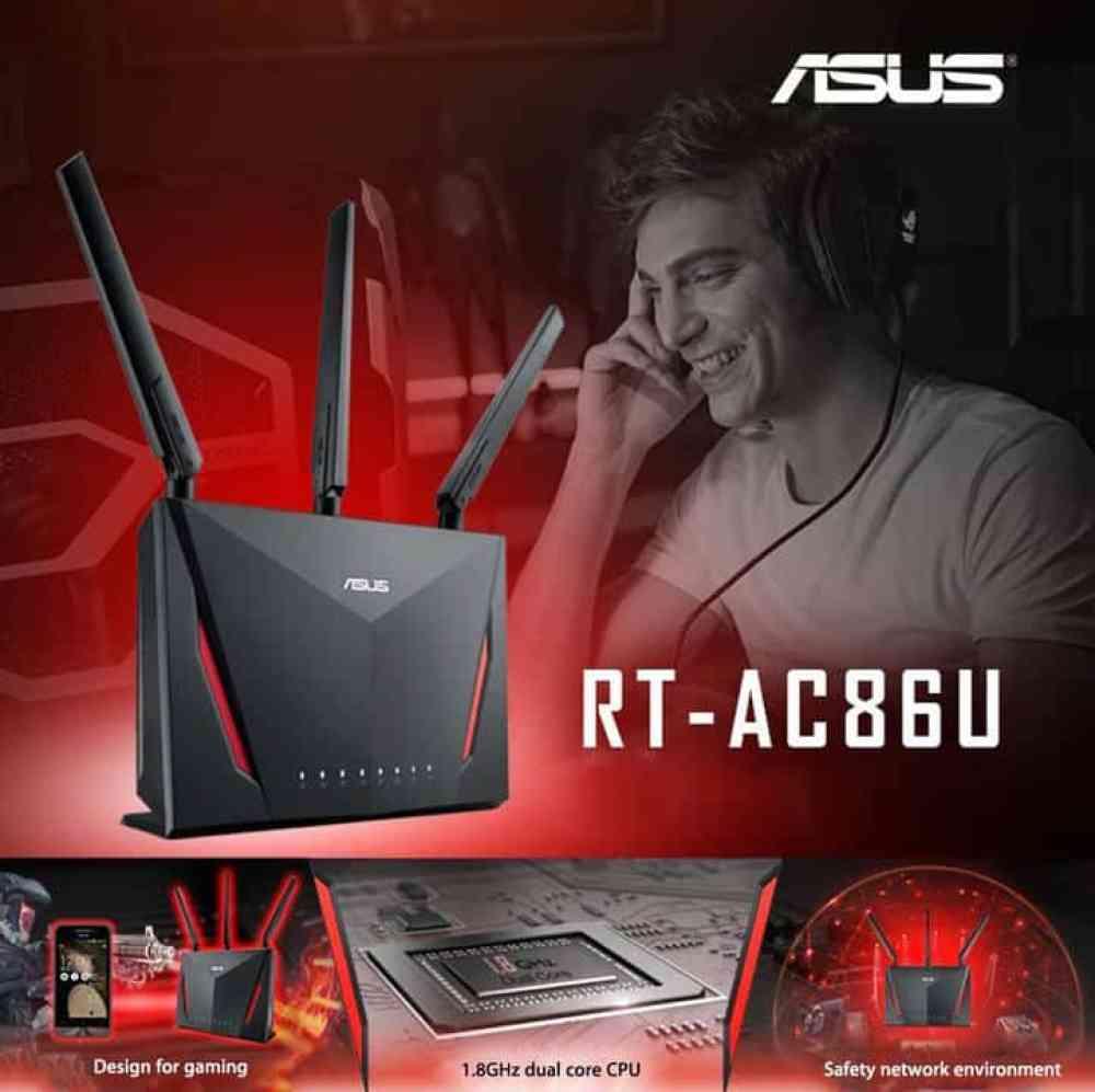 Oferta Router ASUS RT - AC86U por 145 euros (Oferta FLASH)