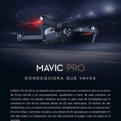 Oferta Drone DJI Mavic PRO por 936 euros (Cupón 200 euros)