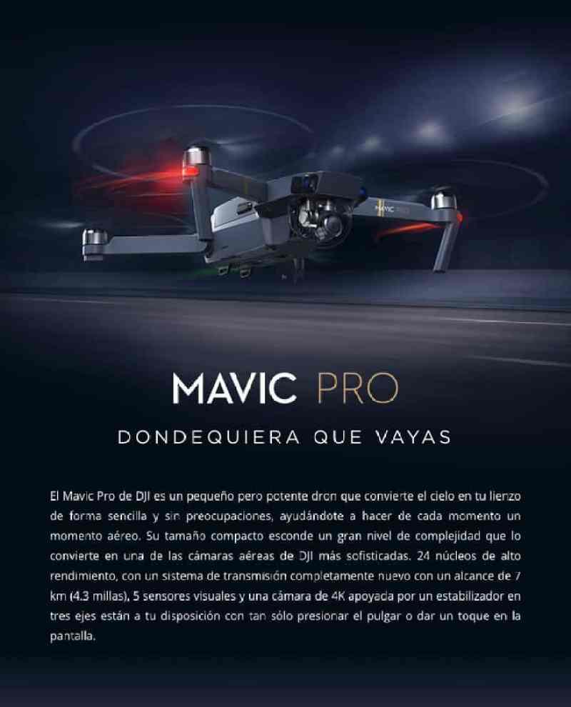 Oferta Drone DJI Mavic PRO por 1186 euros (Cupón Descuento)