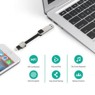 Oferta Pendrive USB 3.0 64GB RAVPower para iPad / iPhone por 39 euros (Oferta FLASH)